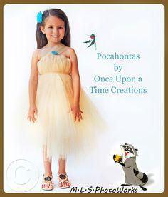 Pocahontas Inspired Princess Tutu Dress - My little girl's Halloween costume! Love it!