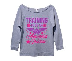 Training To Be An Amazonian Goddess Womens 3/4 Long Sleeve Vintage Raw Edge Shirt