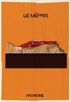 Casa Malaparte _ARCHICINE: Ilustraciones de la Arquitectura en las películas_Le mépris. Directed by Jean-Luc Godard. Imagen cortesía de Federico Babina
