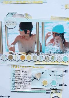 Catherine Brancieq's Gallery: Scrapbooking A4-009 Hey boy and girl