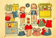 recortables muñecas de papel, paper dolls, bambole da carta, poupées en papier…