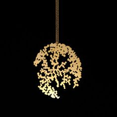 Full Moon Necklace Gold-Plated