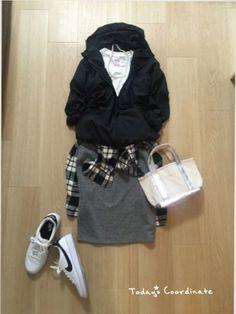 mirukuさんのナイロンジャケット「UNIQLO ウインドブレーカー」を使ったコーディネート