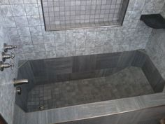 Tile Bathroom Tub large white tiles - kerry phelan design. similar layout of our
