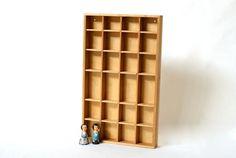 WOODEN SHADOW BOX Display Case Setzkasten by CurialVintage on Etsy