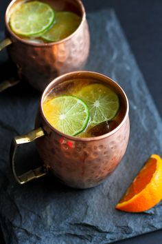 This refreshing Moscow mule recipe gets a kick of citrus with the addition of freshly squeezed orange juice. Is it 5 o'clock yet? from @cookincanuck