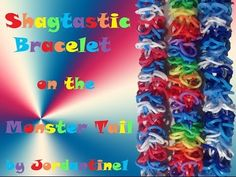 Monster Tail SHAGTASTIC Bracelet. Designed and loomed by jordantine1. Click photo for YouTube tutorial. 05/14/14.