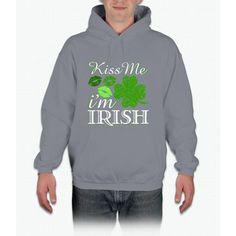 Kiss Me I'm Irish St. Patrick's Day Irish T-shirt Hoodie
