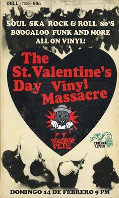 The St. Valentine's Day Vinyl Massacre #sondeaquipr #stvalentinesday #vinylmassacre #boogaloopete #tabernalupulo #viejosanjuan #sanjuan