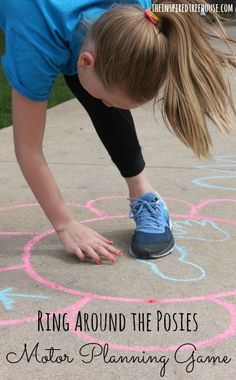 This outdoor game for kids has them moving their bodies for some awesome strengthening, motor planning, coordination and more!