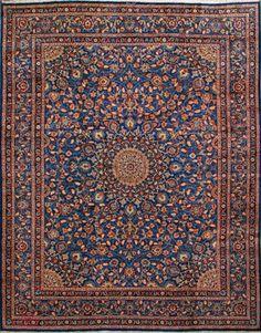 "Mashad Persian Rug, Buy Handmade Mashad Persian Rug 10' 0"" x 13' 0"" , Authentic Persian Rug"