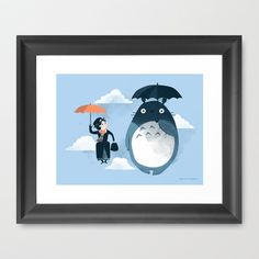 The Perfect Neighbor Framed Art Print by Anna-Maria Jung - $35.00