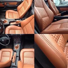 Ideas custom cars interior - My most creative list Custom Car Interior, Car Interior Design, Truck Interior, Car Interior Upholstery, Automotive Upholstery, Leather Seat Covers, Leather Car Seats, Bmw Z3, Vw Mk1