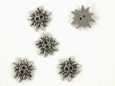 Metallknopf Edelweiß, 20 mm