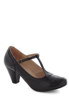 Just Like Honey Heel in Black | Mod Retro Vintage Heels | ModCloth.com