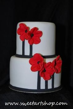 Red Blossoms Cake
