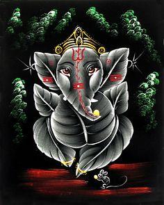 Baby Ganesha (Painting on Velvet Cloth - Unframed) Lord Ganesha Paintings, Lord Shiva Painting, Krishna Painting, Baby Ganesha, Ganesha Art, Ganesh Rangoli, Ganesh Wallpaper, Nature Wallpaper, Tantra Art