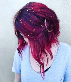 Check Out Our , Galaxy Hair too Cool Blue Purple and Green Dyed Hair, Pin by Jenna Harbaugh Cordell On Hair Color In Galaxy Hair by Ursula Goff & Stuff Home. Hair Dye Colors, Cool Hair Color, Red Purple Hair Color, Crazy Hair Colour, Purple Ombre Hair Short, Rainbow Hair Colors, Trendy Hair Colors, Hair Goals Color, Dark Pink Hair