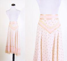 Gunne Sax / Gunne Sax Skirt / Skirt / Pastel / Pink / by aiseirigh, $68.00