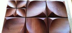 dune mini hardwood - 3d wall art tile custom