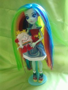 Custom OOAK Monster High doll Rainbow Brite by jazzybcreations, $150.00