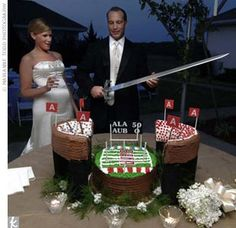 Bryant Denny Stadium Wedding Cake