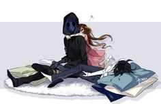 Eyeless Jack, Sally, and Jeff the Killer hmm I wonder whose playing babysitter?... :)