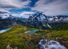 North Cascade Mountains, Washington, by Marc Adamus.