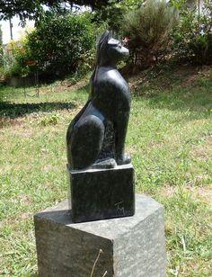 Statue einer Katze im ägyptischen Stil 42 cm: Amazon.de: Garten