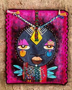 Alinet - brasilian artist @alinet.oficial Textile art, embroidery paint #alinet #africanart #embroidery #crochet #art