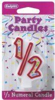 ShopBakersNook Search Results Page M5 8341 1 2 Shaped Birthday Candle By Deco Pac