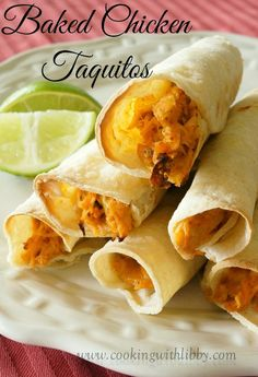 Cooking With Libby: Baked Chicken Taquitos