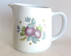 Arabia Plums Pitcher Made In Finland by GrouchyParrot on Etsy