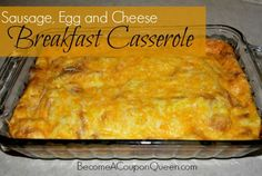 If you are looking for an easy, make ahead breakfast casserole, this is it! This Sausage, Egg and Cheese Breakfast Casserole can be prepped the night before you want to eat it or weeks prior and frozen.