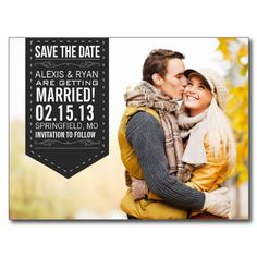 Save The Date Postcard - great design & layout.
