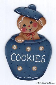 HP GINGERBREAD Cookie Jar FRIDGE MAGNET