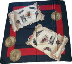 French musketeers silk scarf
