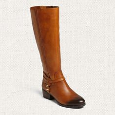 Wide-Calf Boots That Don't Skimp on Style | BCBGeneration Joseff Harness Wide Calf Boot in Cognac, $189