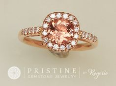 PADPARADSCHA COLOR SPINEL ROSE GOLD ENGAGEMENT RING DIAMOND HALO GEMSTONE ENGAGEMENT RING SAPPHIRE ALTERNATIVE WEDDING RING ANNIVERSARY RING