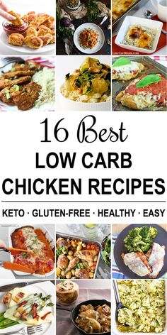 16 Best Low Carb Chicken Recipes (Keto, Gluten-free, Sugar-free) - The 16 BEST keto low carb chicken recipes to make for dinner! They're all quick and easy to make, with lots of variety in prep and cuisines.