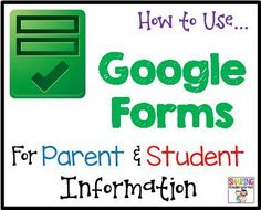 How to Use Google Forms for Meet the Teacher