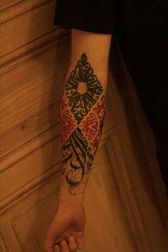 Lettering, ornament Tattoo. 100% custom.