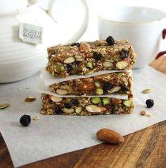Blueberry Bliss Breakfast Bars (No-Bake, Vegan, Gluten Free, Naturally Sweetened)