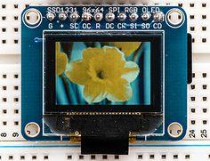 OLED Breakout Board - 16-bit Color 0.96