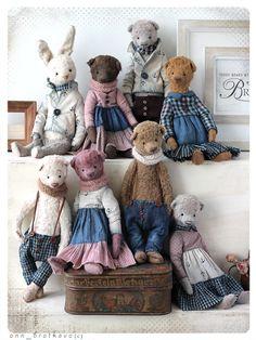 Series of cute teddy bears by Anna Bratkova