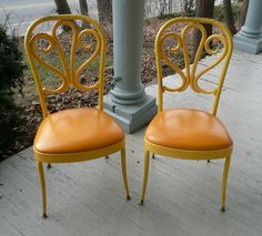 Fabulousy Retro ChairsPairVintage by poppycottage on Etsy, $170.00