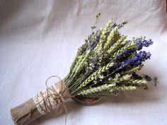 Wedding country bouquet ,shabby chic pastel wedding ,wheat bouquet ,rustic wedding ,dried flowers blue and light green farm wedding
