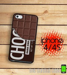 iPhone 4S Case Chocolate Bar Candy / Hard Case For iPhone 4 and iPhone 4S Kawaii Candy Treat  Rubber Trim on Etsy, $16.99