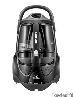 The compact, lightweight body is easy to maneuver (and store). The big 2.5-liter dustbin means less frequent emptying. Samsung TwinChamber Vacuum System, $319. samsung.com.   - HouseBeautiful.com