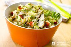salade riz poulet et pommes